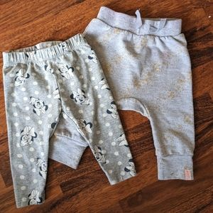 Two pairs of baby girl pants